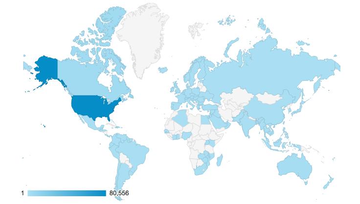 google analytics visitor map